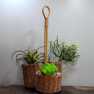 🌵 3 connected basket organizer vintage boho